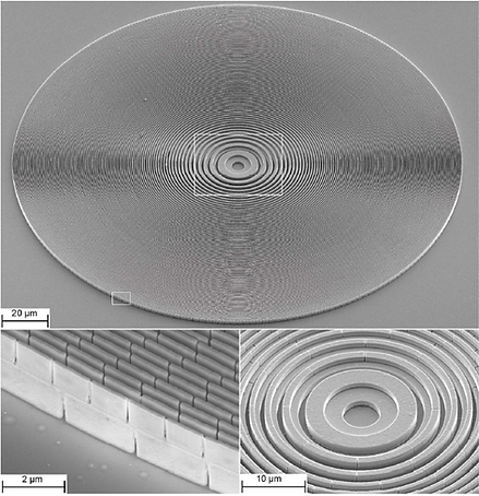 Blazed grating fresnel zone plate