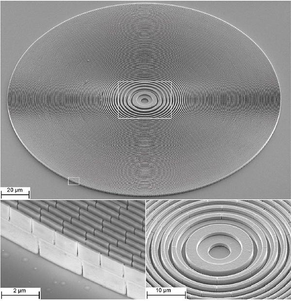 Blazed fresnel zone plate