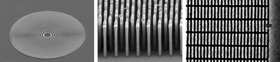 Fresnel Zone plate and nano structures