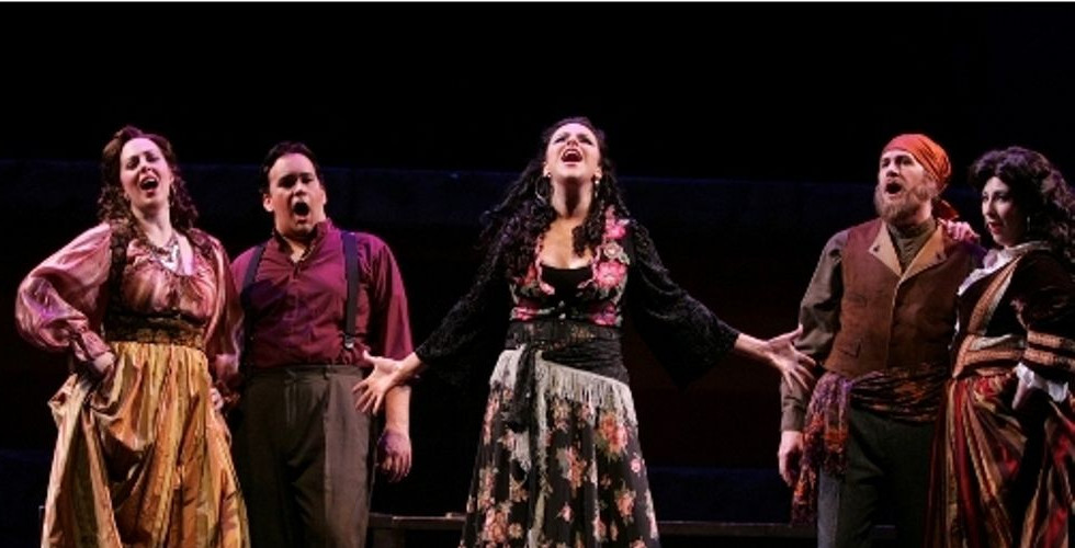 """""""femine counterparts Rebecca Sjöwall and Stephanie Foley Davis suffused their phrases with emotion as Frasquita and Mercédès."""" – Opera Today, Maria Nockin"""