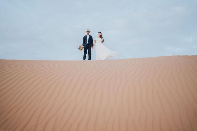 Couple in Sand Dune | AI altered image | ImagenAi