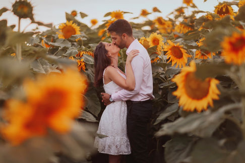 Sunflowers and couple | Professional photo editing app