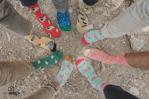 Colorful socks   AI photo editing engine   ImagenAI