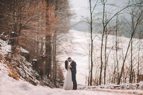 Snow background edited by ImagenAI app | Warm skin tone