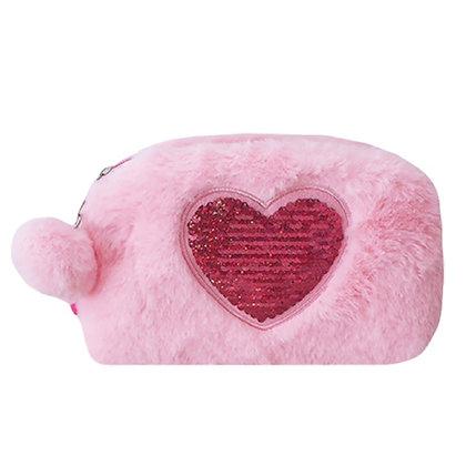 Sequin Reversible Heart Bag