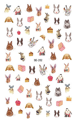 Nail Sticker-Rabbit252