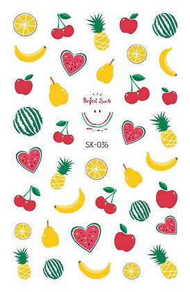 สติกเกอร์ติดเล็บเด็ก Nail Sticker-Fruity036