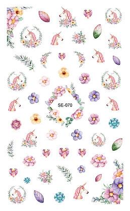 Nail Sticker-Unicorn070