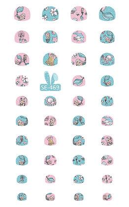 สติกเกอร์ติดเล็บเด็ก Nail Sticker-Mermaid469