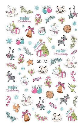 สติกเกอร์ติดเล็บเด็ก Nail Sticker- Xmas172
