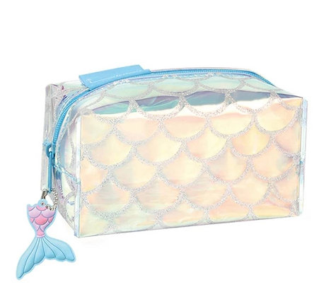 Holographic Mermaid Makeup Bag