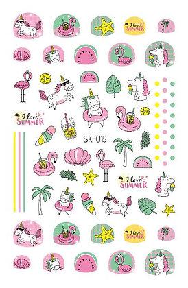 สติกเกอร์ติดเล็บเด็ก Nail Sticker-Summer015