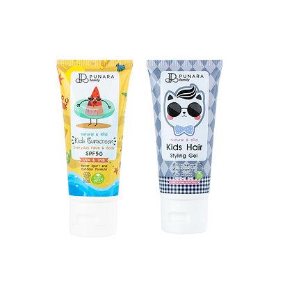 เซ็ตดรีมกันแดดเด็ก และ เจลแต่งผมเด็ก Suncreen+Hair Gel Duo Pack