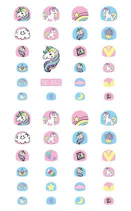 Nail Sticker-Unicorn352