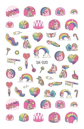 Nail Sticker-Rainbow020