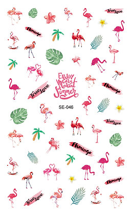 Nail Sticker-Flamingo046