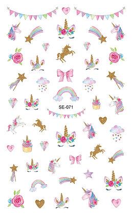 สติกเกอร์ติดเล็บเด็ก Nail Sticker-Unicorn071