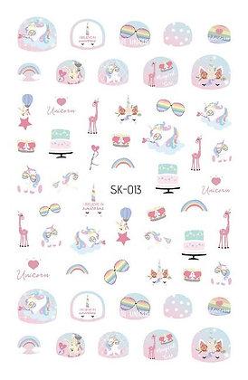 Nail Sticker-Unicorn013