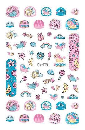 สติกเกอร์ติดเล็บเด็ก Nail Sticker-Star019