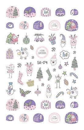 สติกเกอร์ติดเล็บเด็ก Nail Sticker-Xmas174