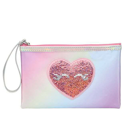 Sequin Reversible Heart Bag