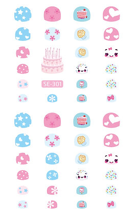 Nail Sticker-Party301