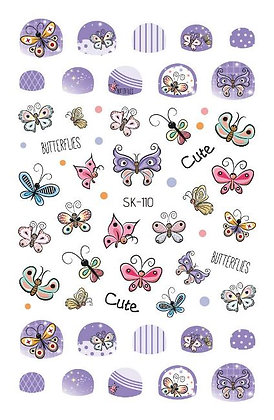 Nail Sticker-Butterfly110
