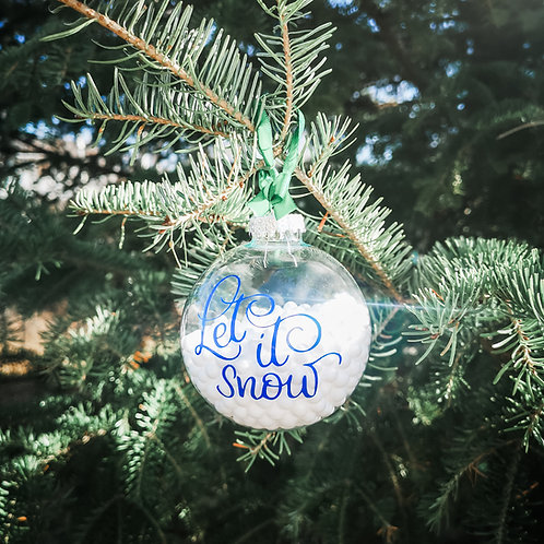 Snowglobe Ornament - Let It Snow