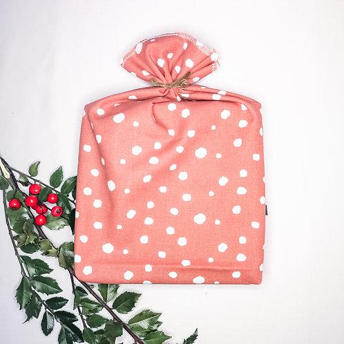 B.i. gift bag | medium - terracotta dots