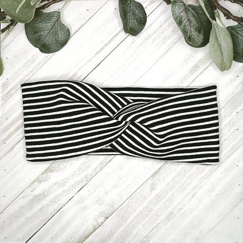 B.i.headband | striped b&w