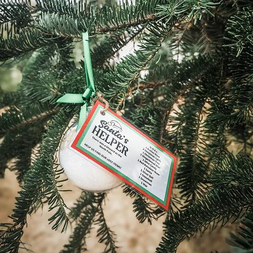 Santa's Helper Ornament - NOËL