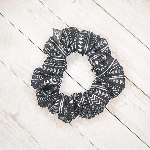 B.i.scrunchies | silver aztec