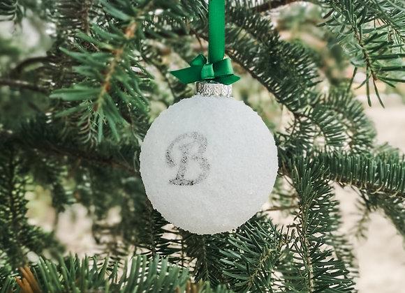 Snowball Ornament - Letter