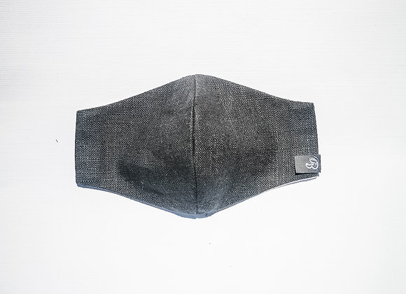 B.i.Mask YOUTH | charcoal slubbed cotton