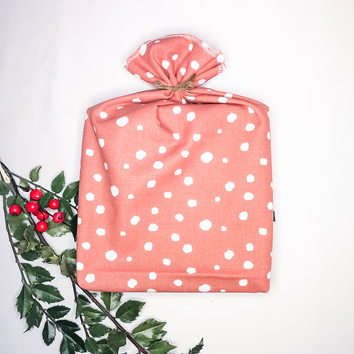 B.i. gift bag | large - terracotta dots