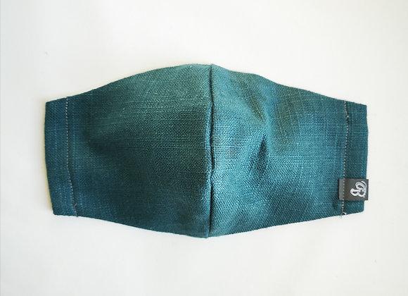 B.i.Mask | turquoise slubbed cotton