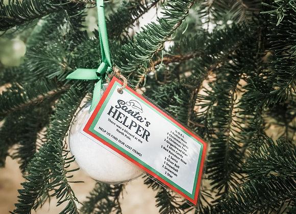 Santa's Helper Ornament - Custom