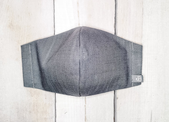 B.i.Mask XL | charcoal slubbed cotton