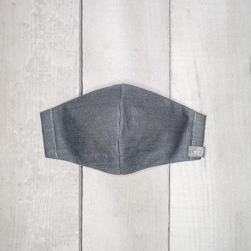 B.i.Mask | charcoal slubbed cotton