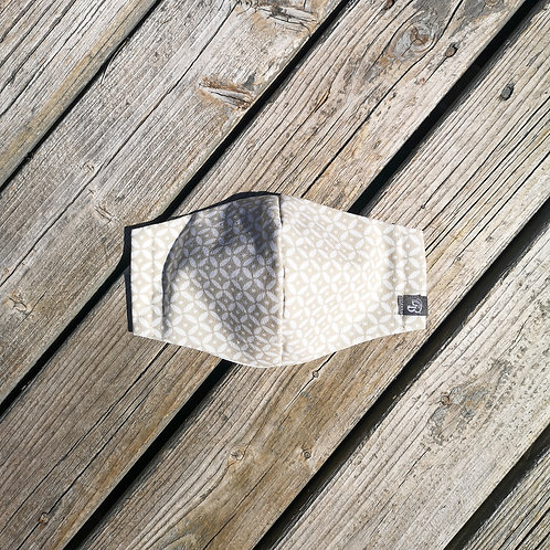 B.i.Mask | beige picket fence