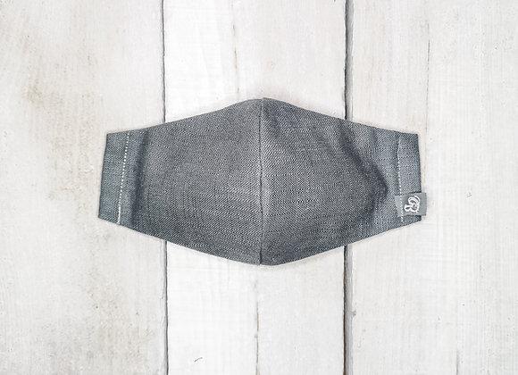 B.i.Mask YOUTH | charcoal slubbed cotton