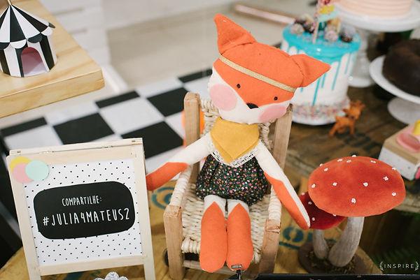 raposa de pano feltro artesanal