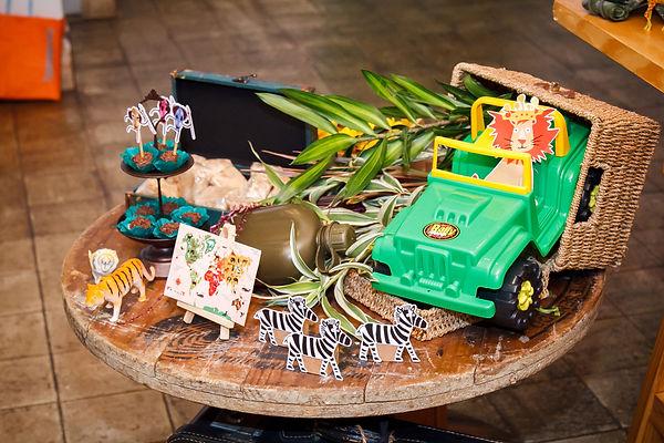 Decoração festa safari rústico