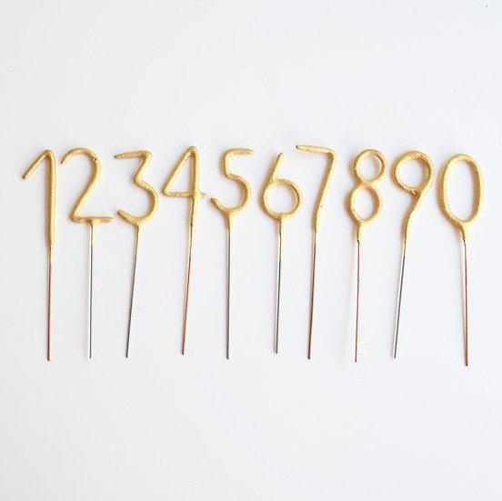 Vela sparkler de número