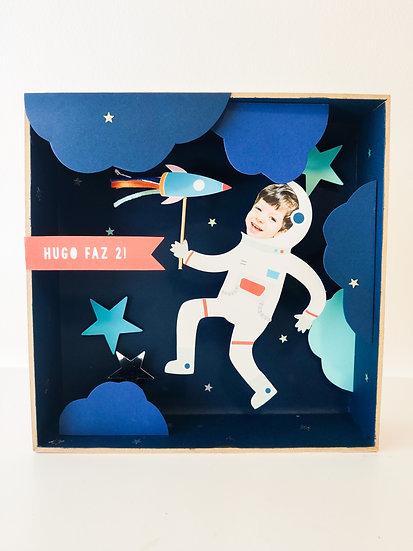 Diorama astronauta no espaço