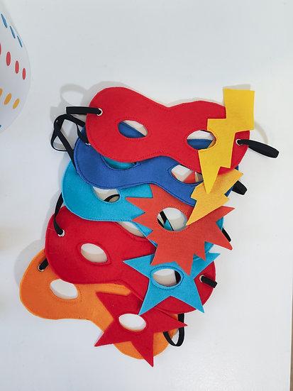5 máscaras de Super Herói