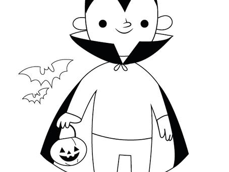 Halloween para colorir