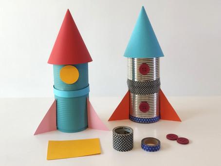 Moldes para o foguete de lata