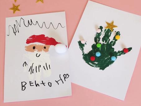 Atividade para fazer com sua criança no natal: Cartões criativos!
