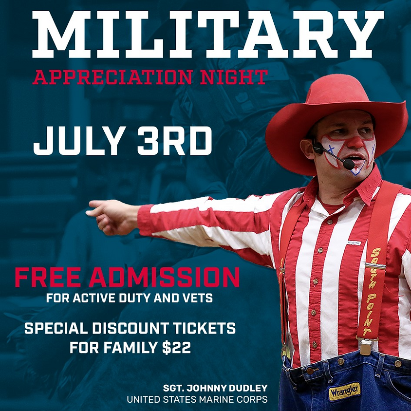 Mesquite Championship Rodeo- Military Appreciation Night , July 3rd